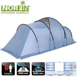 Палатка кемпинговая 6-ти местная Norfin MOSS 6 NFL